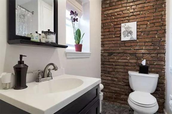 Brick Bathroom - Downtime To Find Leaks
