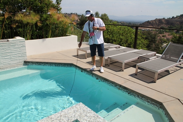 Listen at Main Drain with Leaktronics PoolScope - No Visual Pool Inspections - Advice on Leak Detection