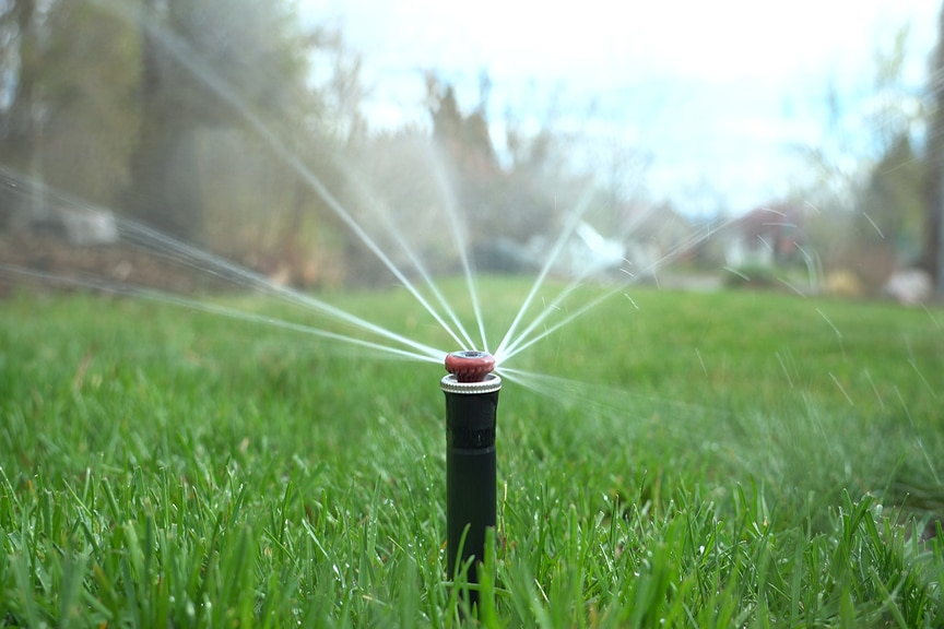 Sprinkler heads can cause water waste