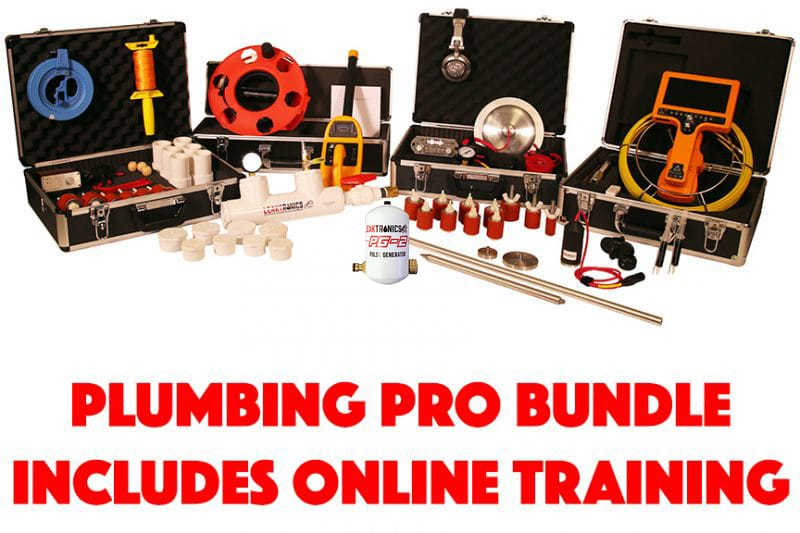 The complete plumbing leak detection equipment package with training.