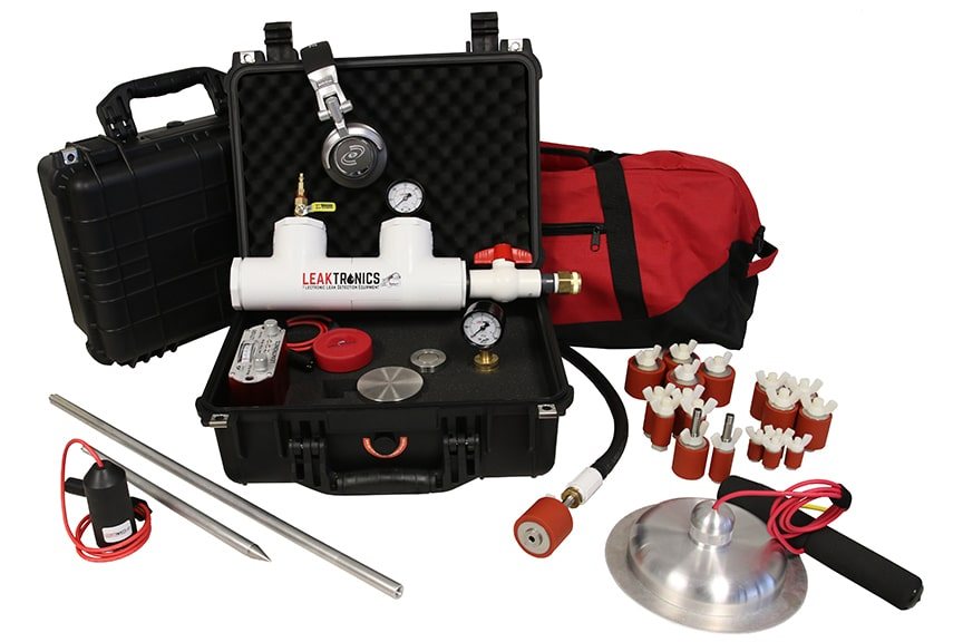 Pluming leak detection equipment package - Plumbers Kit by LeakTronics