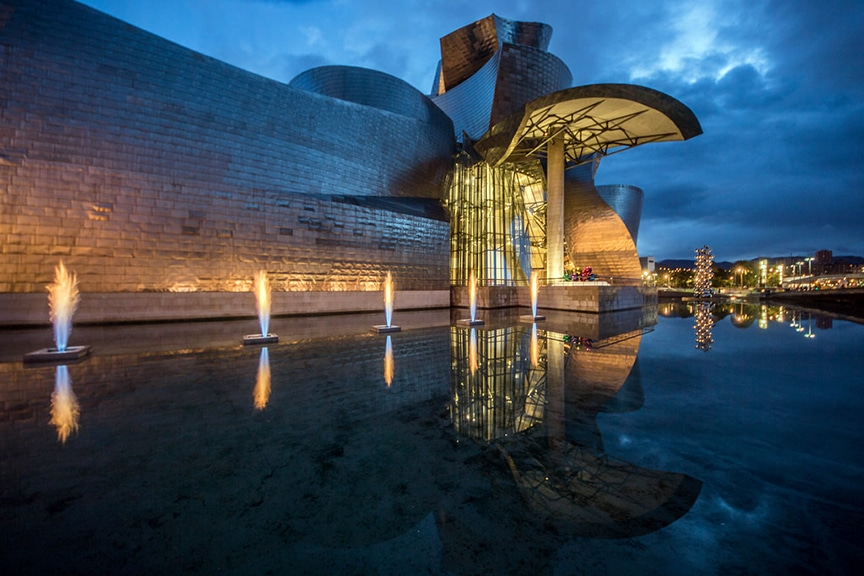 Bilbao Guggenheim Fountain Pools leak Detection and Consulting